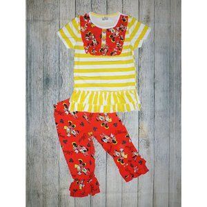 Boutique Minnie Mouse Tunic Leggings Girls Outfit